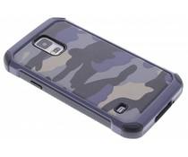 Blaue Camouflage Hardcase-Hülle für Samsung Galaxy S5 (Plus)/Neo