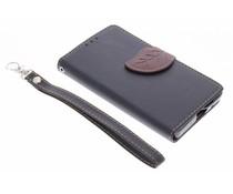 Schwarze Blatt-Design TPU Booktype Hülle für Sony Xperia Z5 Compact