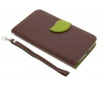 Braune Blatt-Design TPU Booktype Hülle für Motorola Moto G4 (Plus)