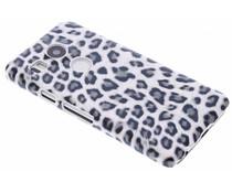 Graue Leoparden-Design Hardcase-Hülle für LG Nexus 5X