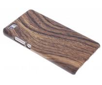 Dunkles Holz Design Hardcase-Hülle für Huawei P8 Lite