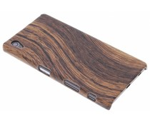 Dunkelbraune Holz-Design Hardcase-Hülle für Sony Xperia Z5