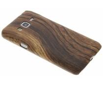 Dunkelbraune Holz-Design Hardcase-Hülle für Samsung Galaxy J3/J3 (2016)