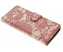 Rote Glamour Design Booktype Hülle für Sony Xperia XA