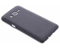 Schwarze Carbon Look Design Hardcase-Hülle für Samsung Galaxy J5