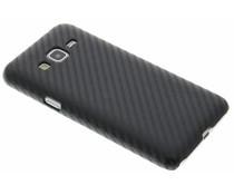 Schwarze Carbon Look Hardcase-Hülle für Samsung Galaxy J3/J3 (2016)