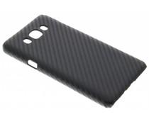 Schwarze Carbon Look Hardcase-Hülle für Samsung Galaxy J7 (2016)