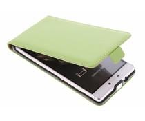 Grünes Luxus Flipcase für Huawei P8
