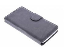 Wildleder-Look Booktype Hülle Grau für Samsung Galaxy S6 Edge
