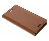 Cognacfarbene schlichte Booktype Hülle für Sony Xperia X Compact
