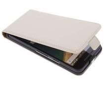 Selencia Luxus Flipcase für LG Nexus 5X - Gebrochenes Weiß