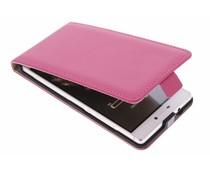 Selencia Luxus Flipcase für Huawei P8 - Fuchsia