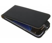 Selencia Luxus Flipcase für Samsung Galaxy S7 Edge - Schwarz