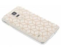 Cubes Design Roségold TPU Hülle für Samsung Galaxy S5 (Plus)/Neo