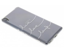 Zitat Design Live Love Laugh TPU Hülle für Sony Xperia XA