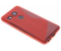 Rote S-Line TPU Hülle für LG Nexus 5X