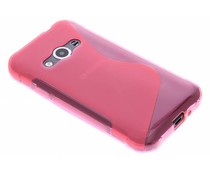 Roséfarbene S-Line TPU Hülle für Samsung Galaxy Xcover 3