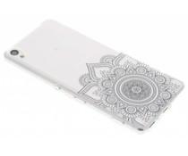 Schwarze Mandala Design TPU Hülle für Sony Xperia XA