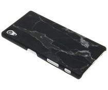 Glow in the dark Marmor Look Hardcase Schwarz für Sony Xperia Z5