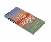 Never Stop Dreaming Design Hardcase Hülle für Huawei P8 Lite