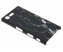 Schwarze Marmor Look Hardcase Hülle für Sony Xperia X Compact