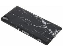 Schwarze Marmor Look Hardcase Hülle für Sony Xperia XA