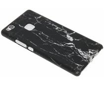 Marmor Look Hardcase Hülle Schwarz für Huawei P9 Lite