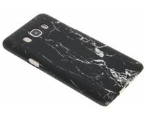Schwarze Marmor Look Hardcase Hülle Samsung Galaxy J5 (2016)