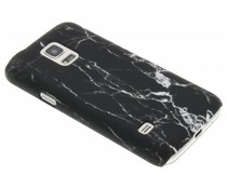 Schwarze Marmor Look Hardcase Hülle für Samsung Galaxy S5 Mini