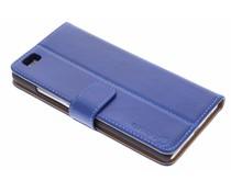 Selencia Luxus Leder Booktype Hülle für Huawei P8 Lite - Blau