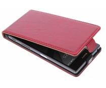Selencia Luxus Leder Flipcase für Sony Xperia Z5 - Rot