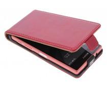 Selencia Luxus Leder Flipcase für Sony Xperia Z5 Compact - Rot