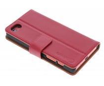 Selencia Luxus Leder Booktype Hülle für Sony Xperia X Compact - Rot