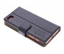 Selencia Luxus Leder Booktype Hülle für Sony Xperia Z5 Compact - Schwarz