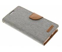 Mercury Goospery Canvas Diary Case für Sony Xperia XA - Grau