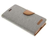Mercury Goospery Canvas Diary Case für Sony Xperia X - Grau