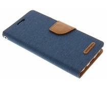 Mercury Goospery Canvas Diary Case für Samsung Galaxy S7 - Blau