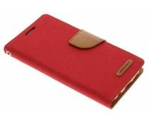 Mercury Goospery Canvas Diary Case für Samsung Galaxy S7 - Rot