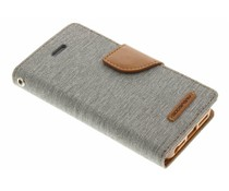 Mercury Goospery Canvas Diary Case für iPhone 5/5s/SE - Grau
