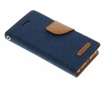 Mercury Goospery Canvas Diary Case für iPhone 5/5s/SE - Blau