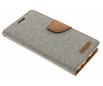 Mercury Goospery Canvas Diary Case für Samsung Galaxy S7 - Grau