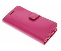 Mercury Goospery Mansoor Wallet Diary Case für Samsung Galaxy S6 - Fuchsia