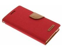 Mercury Goospery Canvas Diary Case für Samsung Galaxy A5 - Rot