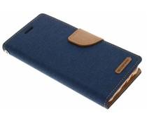 Mercury Goospery Canvas Diary Case für Samsung Galaxy J5 - Blau