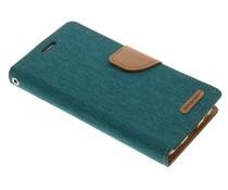 Mercury Goospery Canvas Diary Case für Samsung Galaxy S6 Edge - Grün