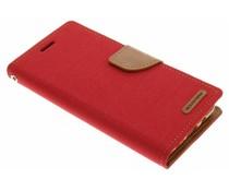 Mercury Goospery Canvas Diary Case für Samsung Galaxy J5 (2016) - Rot