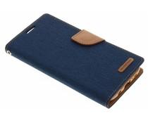 Mercury Goospery Canvas Diary Case für Samsung Galaxy S7 Edge - Blau