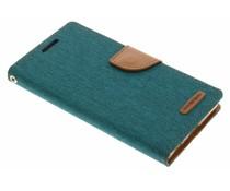 Mercury Goospery Canvas Diary Case für Sony Xperia Z5 - Grün