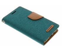 Mercury Goospery Canvas Diary Case für Samsung Galaxy A3 - Grün
