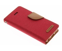 Mercury Goospery Canvas Diary Case für iPhone 5/5s/SE - Rot